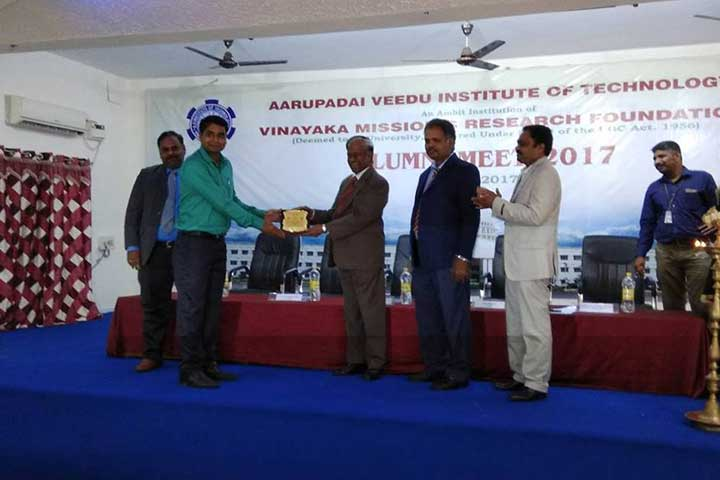 Awardee in AVIT Alumni Meet 2017