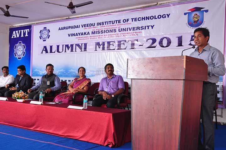 Speech in AVIT Alumni Meet 2015