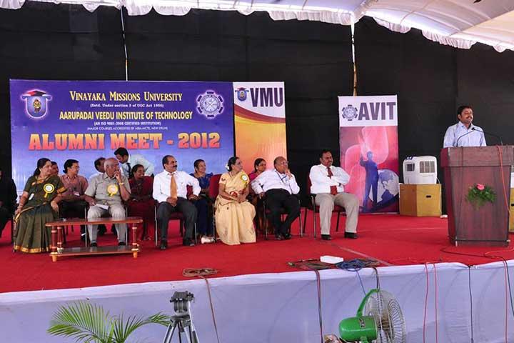 Speech in AVIT Alumni Meet 2012