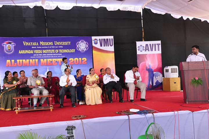 Speech in AVIT Alumni Meet