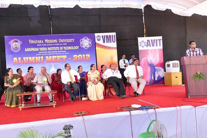 Speech in Aarupadai Veedu Institute of Technology Alumni Meet 2012