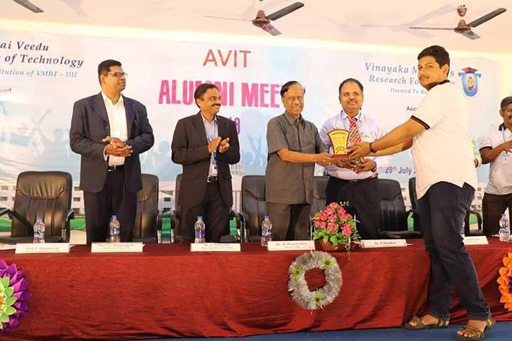Awardee in AVIT Alumni Meet 2018